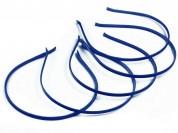 Vincha metálica forrada en raso azul marino 0.5 cm x unidad