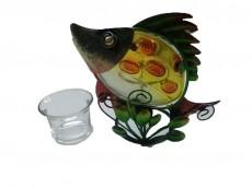 Portavela artesanal pescado x 1