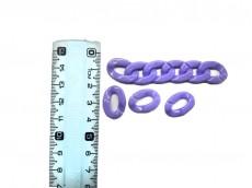 Eslabones plasticos violeta para portalentes holder portabarbijo por kg