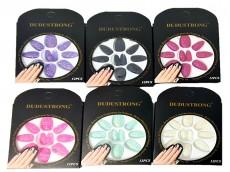 Caja de uñas postizas Lali con glitter x unidad