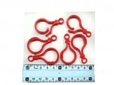 Mosquetón plástico rojo x unidad