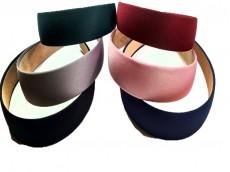 Vincha ancha de 3cm colores surtidos x unidad