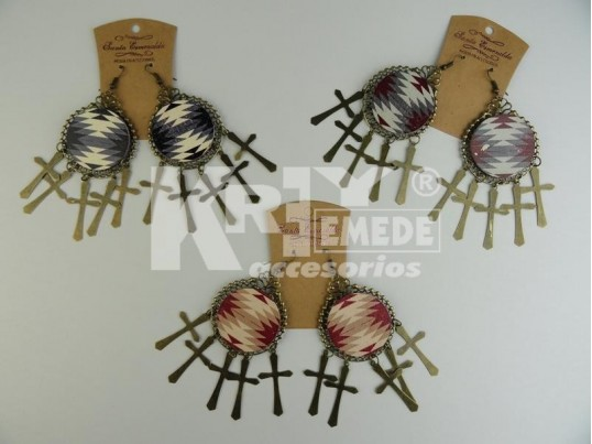 Aro chapón madera estampada y cruces