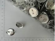 Base de prendedor redonda 2 cm