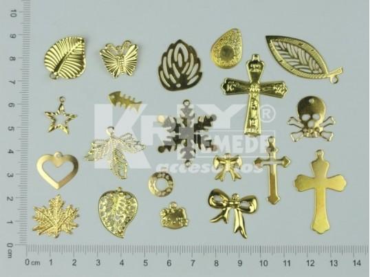 Dijes dorados surtidos x 250 gr