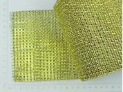 Pasamanería PVC simil strass dorada
