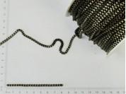 Cadena bronce de eslabones cuadrados chicos x 50 mts