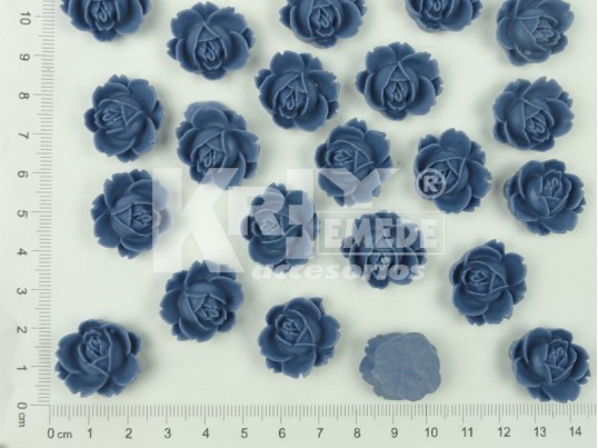 Flor de resina azul