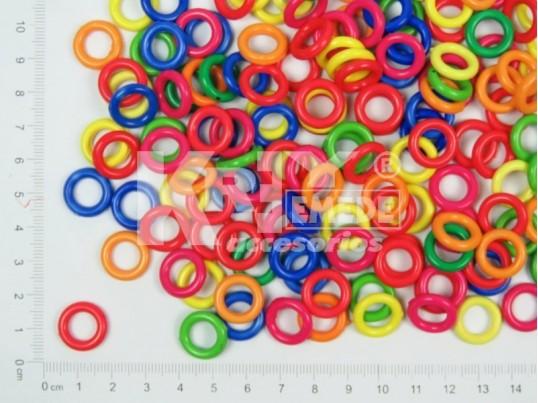 Aplique plástico dona de colores