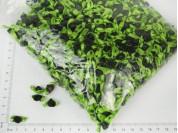Rococó de raso NEGRA 8mm con cinta verde