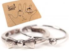 Set anillo falange x 2 moño