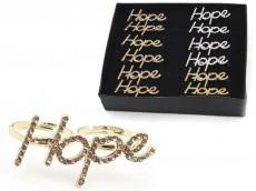 Anilllo doble hope strass en caja