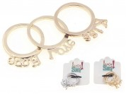 Set anillos love-hope-kiss x3u (n17-18)