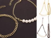 Set pulseras cadena y perla x2u