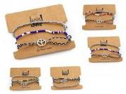 Set pulseras símbolo paz x3u