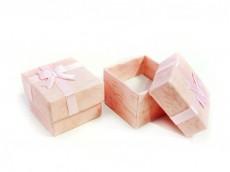 Caja forrada para anillo 4 x 4 x 3 cm x unidad