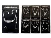 Conjunto strass 4 piezas - anillo, pulsera, gargantilla y aros