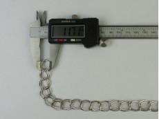 Cadena níquel doble eslabón redondo 1,4 mm x 25 mts