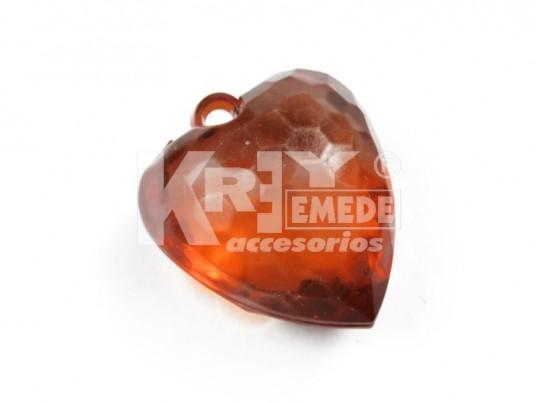 Corazón acrílico facetado x 572 gr