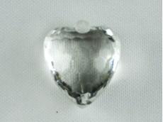 Corazón acrílico facetado x 550 gr