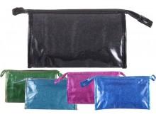 Portacosméticos PVC con glitter 26x16x8.5 cm x unidad