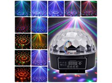 Bola led rgb audioritmica DMX, botonera y control remoto