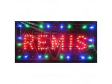 Cartel led REMIS con moviemiento