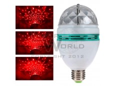 Lámpara led ROJA giratoria a rosca audioritmica E27