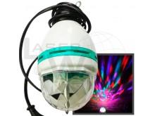 Lampara LED RGB giratoria para colgar, con cable de 1.8m