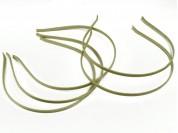 Vincha metálica forrada en seda fría beige 0.5 cm